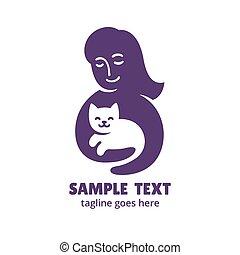 γυναίκα αμπάρι , γάτα