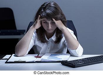 γυναίκα , ανυπάκοος , γραφείο