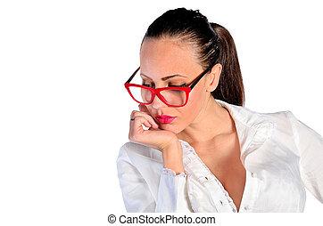 γυναίκα , απομονωμένος , επιχείρηση