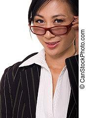 γυναίκα αρμοδιότητα , γυαλιά