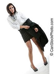 γυναίκα αρμοδιότητα , ισπανικός , μελαχροινή , όμορφη , ρούχα