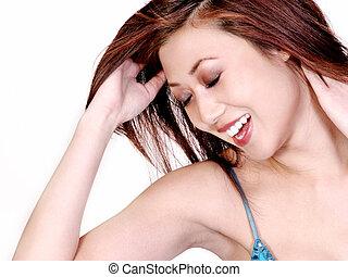 γυναίκα , ασιάτης , ευτυχισμένος