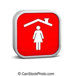 γυναίκα , ασφάλεια , σήμα