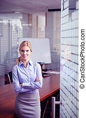 γυναίκα , αυτήν , γραφείο , επιχείρηση , φόντο , προσωπικό