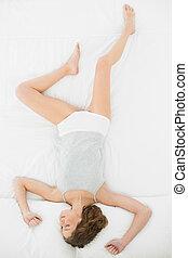 γυναίκα , αυτήν , είδος χαρτοπαιγνίου , κρεβάτι , υπέροχος , κειμένος