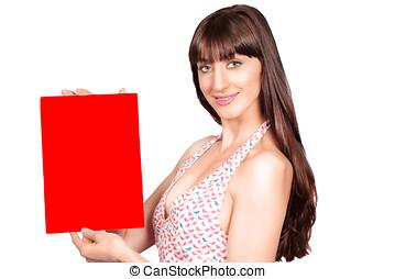 γυναίκα , αφίσα , κόκκινο