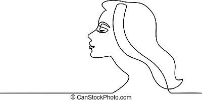 γυναίκα , αφαιρώ , νέος , closeup , όμορφη , πορτραίτο