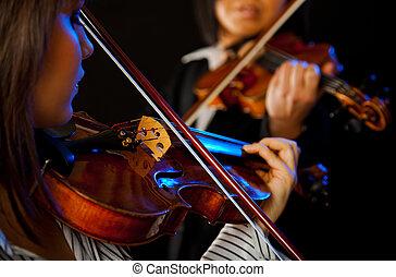 γυναίκα , βιολιστής