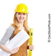 γυναίκα , βιομηχανικός δουλευτής