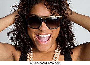γυναίκα , γέλιο