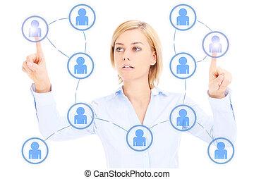 γυναίκα , δίκτυο , επιχείρηση , κοινωνικός