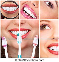 γυναίκα , δόντια