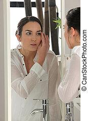 γυναίκα , εφαρμοσμένος makeup