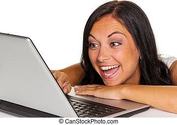 γυναίκα , ηλεκτρονικός υπολογιστής