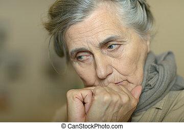 γυναίκα , ηλικιωμένος , άρρωστος