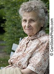 γυναίκα , ηλικιωμένος