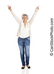 γυναίκα , ηλικιωμένος , ευτυχισμένος