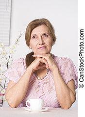 γυναίκα , ηλικιωμένος , καλός