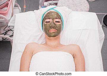 γυναίκα , μάσκα , του προσώπου , ζεσεεδ