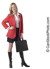 γυναίκα , μπλέιζερ , ελκυστικός , επιχείρηση , κόκκινο