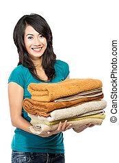 γυναίκα , μπουγάδα