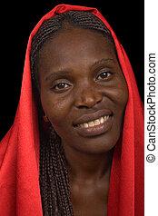 γυναίκα , νέος , αφρικανός