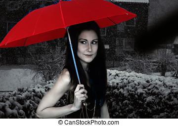 γυναίκα , ομπρέλα