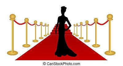 γυναίκα , περίγραμμα , χαλί υποδοχής