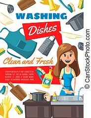 γυναίκα , πλύση , βουλιάζω , πιάτα , αγγαρεία