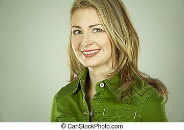 γυναίκα , πράσινο