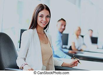 γυναίκα , προσωπικό , επιχείρηση , αυτήν , άνθρωποι , φόντο. , σύνολο