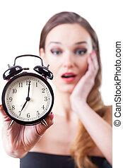 γυναίκα , ρολόι