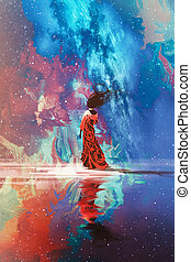 γυναίκα , σύμπαν , εναντίον , ακάθιστος