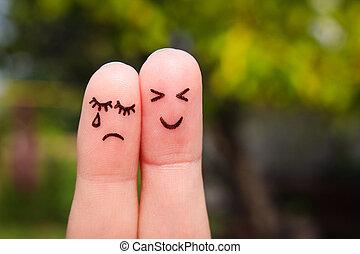 γυναίκα , τέχνη , ανδρόγυνο. , cheerful., δάκτυλο , αλαλαγμός , άντραs