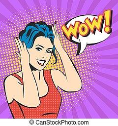 γυναίκα , τέχνη , εκπληκτική επιτυχία , κρότος , ζεσεεδ , μικροβιοφορέας , χαμόγελο , αφρίζω , έκπληκτος