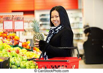 γυναίκα , φρούτο , ασιάτης , εξαγορά