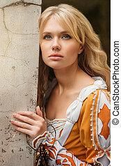 γυναίκα , φόρεμα , μεσαιονικός