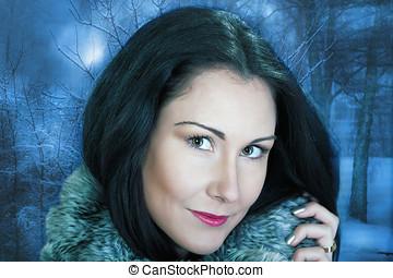 γυναίκα , χειμώναs