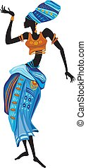 γυναίκα , όμορφος , αναφερόμενος στα έθνη ενδύω , αφρικανός