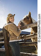 γυναίκα , horse.