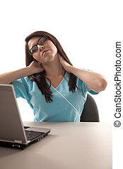 γυναίκα , laptop , ισπανικός , twenties , μελαχροινή , ελκυστικός