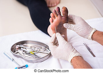 γυναίκα , traumatologist, επίσκεψη , αδικώ , δάκτυλο , ...