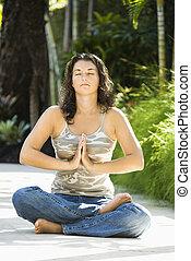 γυναίκα , yoga.