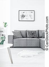 γωνία , ζωγραφική , καναπέs