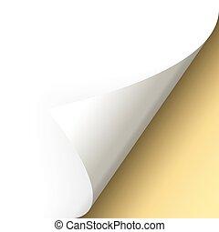 γωνία , χαρτί , - , χρυσός , βυθός