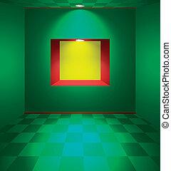 γωνιά , πράσινο , δωμάτιο