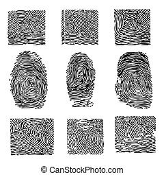 δάκτυλα , dactyloscopy