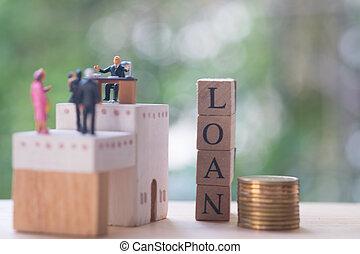 δάνειο , μιλώ , συμβόλαιο , μινιατούρα , χρήματα , συμφωνία , businessmen
