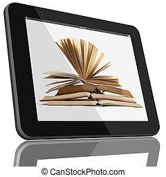 δέλτος pc , ηλεκτρονικός υπολογιστής , και , αγία γραφή , επάνω , οθόνη