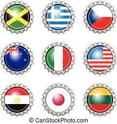 δέμα καλύπτω , εθνικός , σημαίες